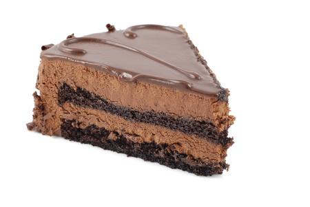 truffe blanche: G�teau au chocolat isol� Banque d'images