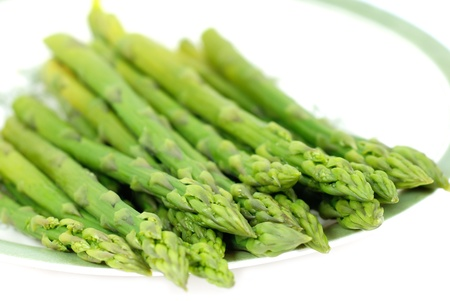 oriental food: Steamed asparagus