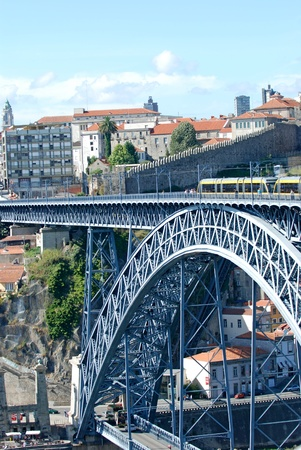 Dom Luis I Bridge in Porto, Portugal 版權商用圖片 - 10726984
