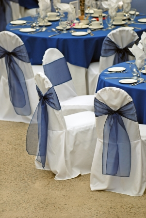 wedding chairs: Table set for event