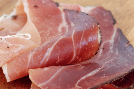 party tray: Prosciutto slices Stock Photo