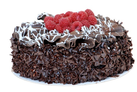 Chocolate raspberry cake photo