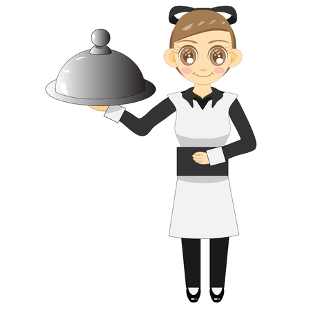 She is a waitress.Shes good service