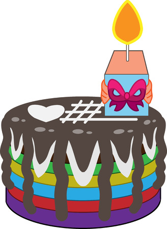 This is a birthday cake. Illustration
