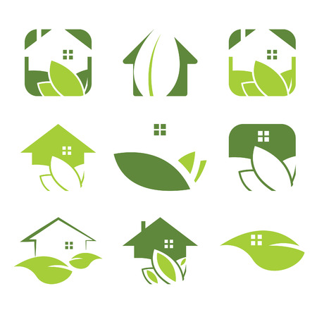 landlord: Set of ecological house icon