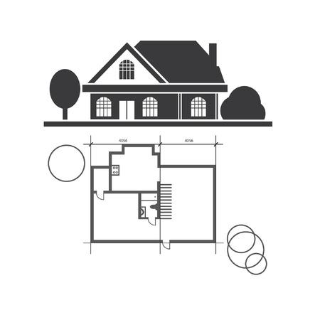 Vector   Vector Technical Draw House
