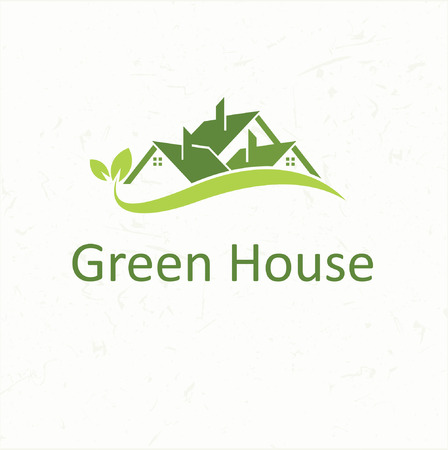manor house: House roofs for real estate business Green House
