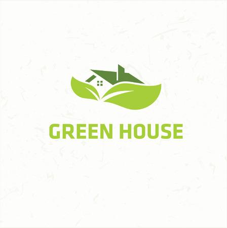 landlord: ecological house icon Illustration