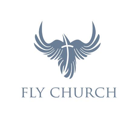 Christian concept,bird and cross Vector