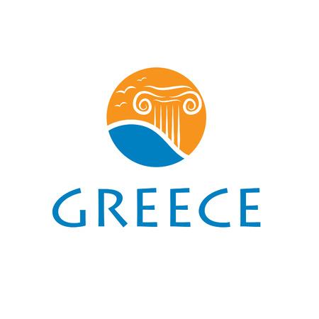 ancient greece: Illustrations icon greece