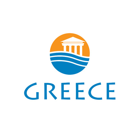 Illustrations icon greece Vector