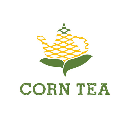 chinaware: illustration icon teapot from corn