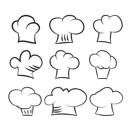 Set chef and cook hats set isolated on white background Stock Vector -  31715493 89fb98799947