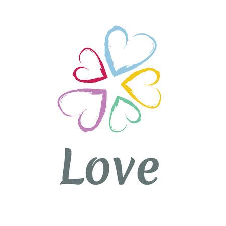 day saint valentin: LOVE Happy Valentines day icon Illustration