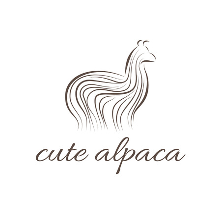 Abstract illustration icon of alpaca Illustration