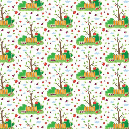 seamless pattern of garden Vector