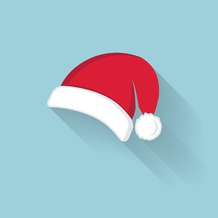 Vector of red Santa Claus hat Vector