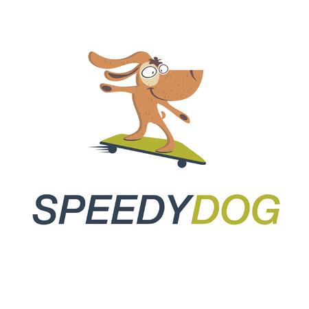 drooling: Cartoon Dog on skateboard