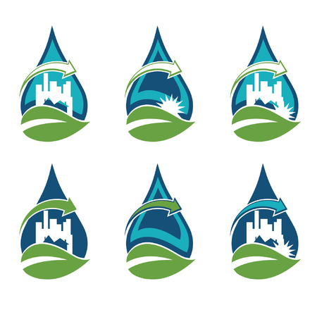 Recycling urban eco icon Vector