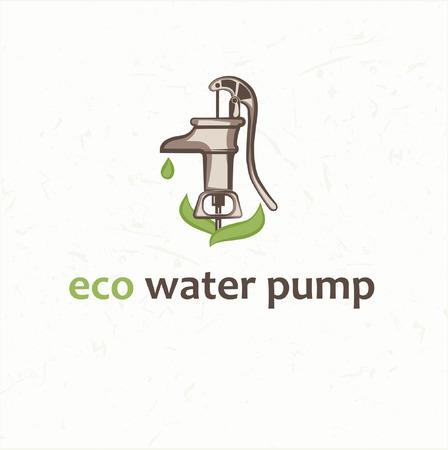 retro water pump Illustration