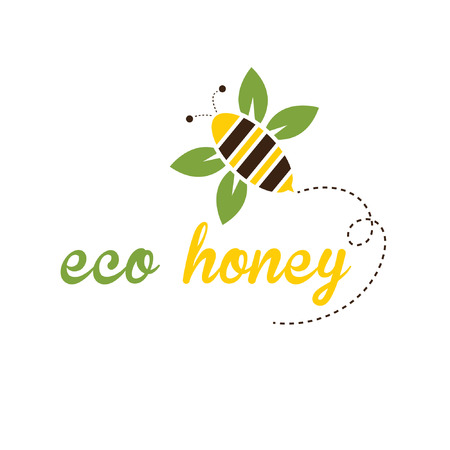 illustration bee eco honey Vector