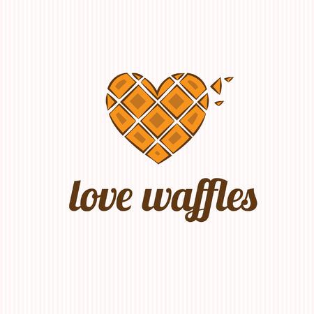 waffles in the shape of heart