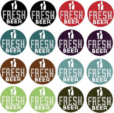 Fresh Beer Vintage Style Stamp