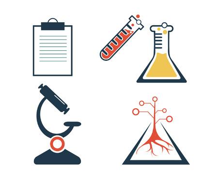hypothesis: lab icons set Illustration