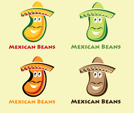 kidney bean: set of mexican beans