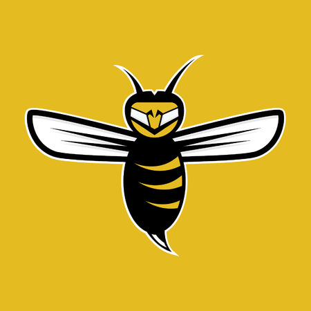 agressive: agressive bee mascot