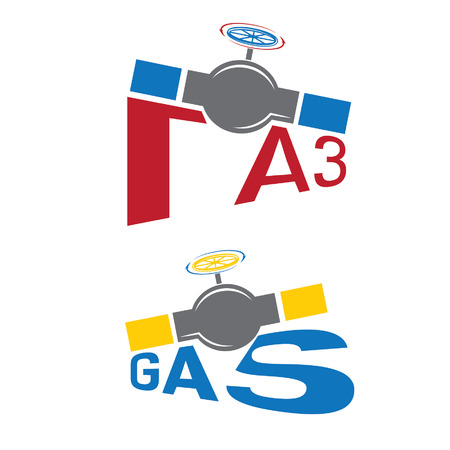 borehole: gas industry illustration Illustration