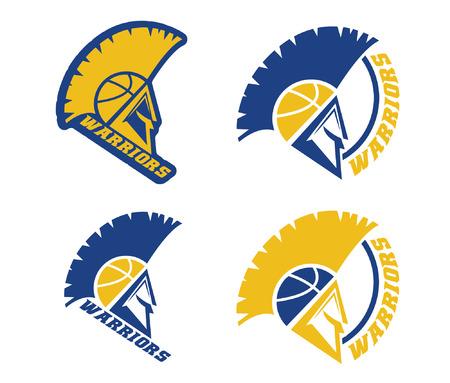 basketball team: emblems of basketball warriors team