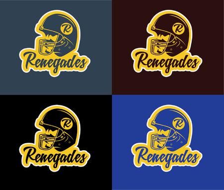 scramble: american football emblem helmet