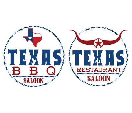 Texas restaurant and bbq Vector