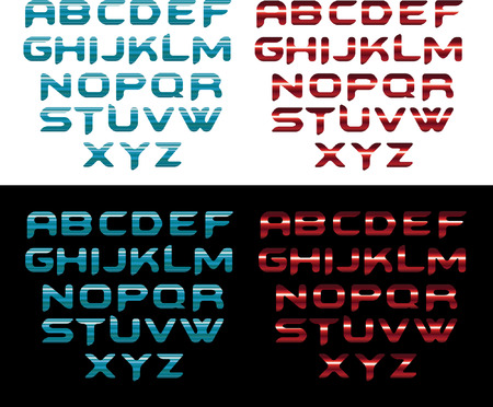 fire font: water and fire font Illustration