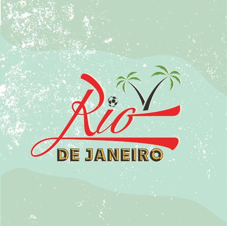 vintage illustration of Rio de Janeiro Vector
