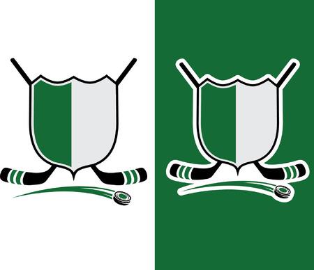 Hockey Sport Crest Vector