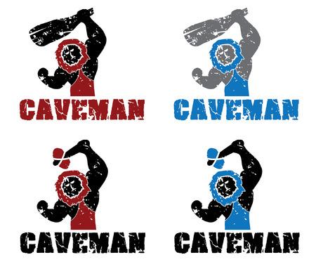 loveable: Set of grunge caveman