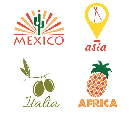 set of international food Vector
