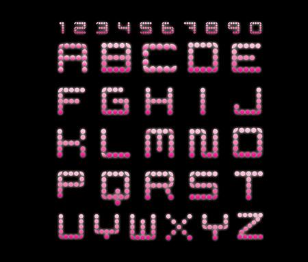 neon glow alphabet: Neon glow alphabet Illustration