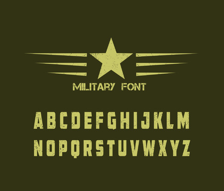 grunge military alphabet Vector