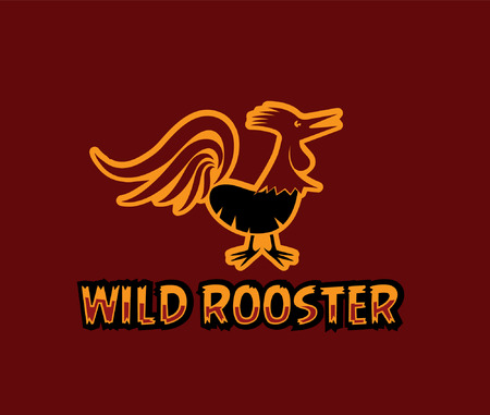 illustration of wild rooster Vector