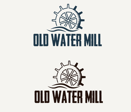 illustration old water mill Illustration