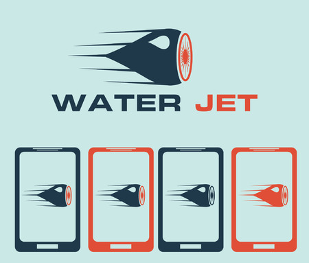 disperse: water jet illustration
