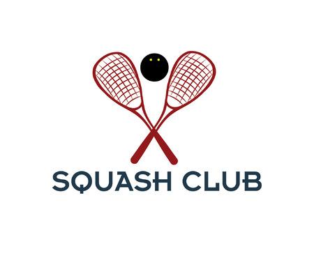 squash: squash club illustration Illustration