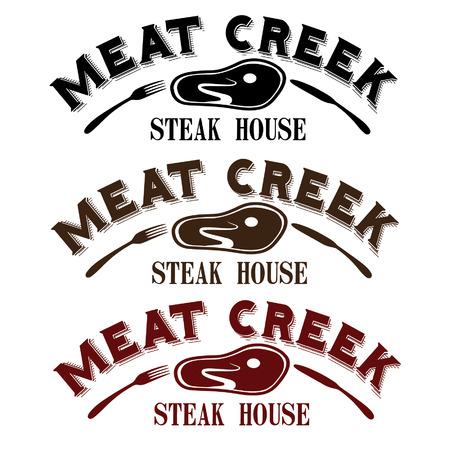 viande ruisseau steak house Vecteurs