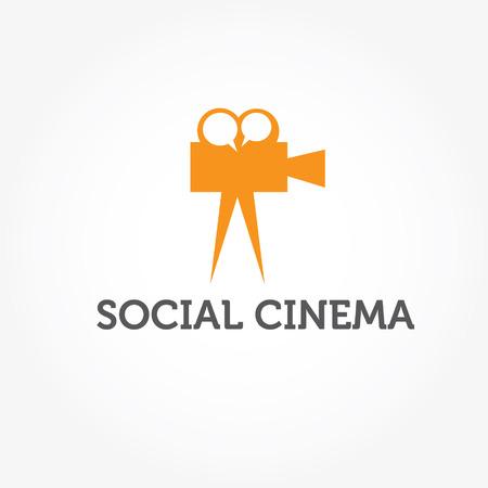 social cinema illustration Vector