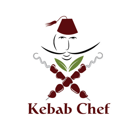 kebab chef illustration