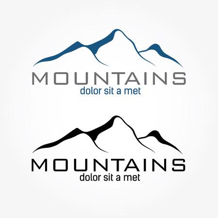 mountains abstract illustration Illustration
