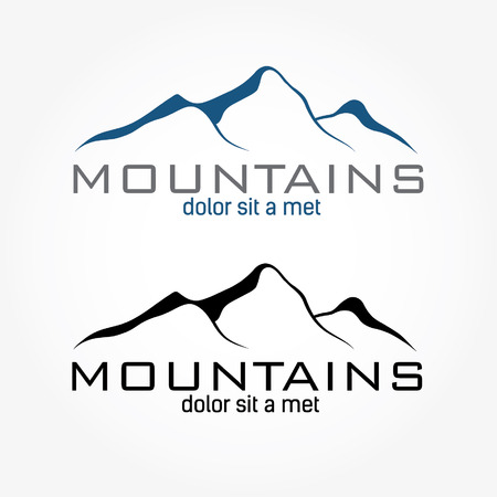 mountains abstract illustration Иллюстрация